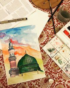 Arabic Calligraphy Art, Arabic Art, Islamic Posters, Islamic Art Pattern, Islamic Paintings, Diy Canvas Art, Watercolor Artwork, Creations, Drawing