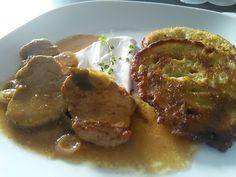 Bravčová panenka na bielom víne so zemiakovou plackou Steak, Beef, Pork, Recipes, Meat, Kale Stir Fry, Pigs, Recipies, Ox