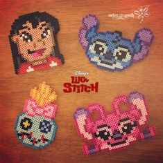Lilo and Stitch Perler Beads by RockerDragonfly