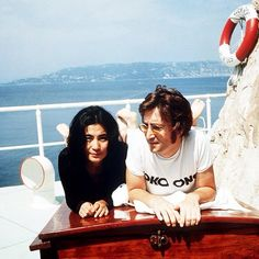 Yoko Ono and John Lennon in Cap D'Antibes, showing that black and white can still look positively nautical