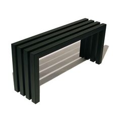 Industry Black Linear Bench   Indoor Outdoor Hand Crafted Modern Bench