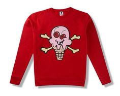 Ice Cream Cones & Bones Sweatshirt ...XoXo