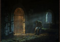 prison cell fantasy jail 3d dark