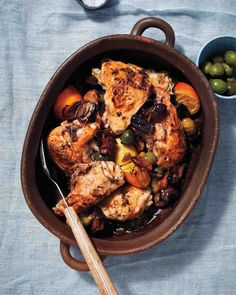 Roasted Chicken with Dates, Citrus, and Olives | Martha Stewart Living Feb 2015