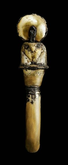 Gilded silver plume holder for a horse's bridle. Nubian. Napatan Period. Reign of Tanwetamani. 664–653 B.C. | Museum of Fine Arts, Boston