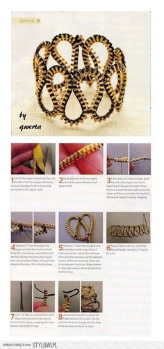 Zipper Bracelet DIY