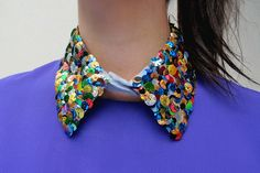 sequin collar DIY