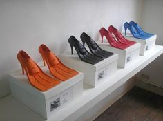 A bit of tongue in cheek art. High tide heels for the stylish scuba diver.