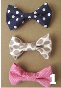 How to make a little bow tie :) or girls bows. Just glue a clip on!