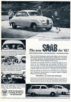 1961 SAAB Advertising Sports Car Illustrated December 1960 | Flickr - Photo Sharing!