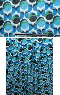 Maggy London blue/green geometric cotton voile from EmmaOneSock.com