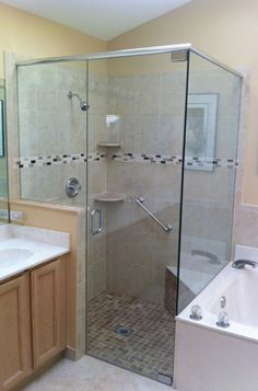 Pictures of our Work - Frameless Shower Doors, Inc. Frameless Shower Doors, Glass Shower Doors, Coral Springs, Glass Replacement, Glass Company, Master Bath, Bathroom Ideas, Bathtub, Florida