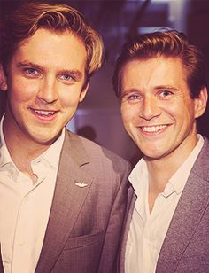 Dan Stevens & Allen Leech - the gorgeous brothers-in-law of Downton