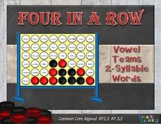 This game is played just like Connect Four only students learn to read while playing! There are four game boards in color and four in black and white printer friendly mode. Great for RTI, centers, guided reading, tutoring, and homework!