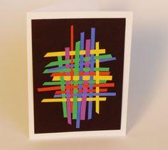 Moderne kunst met stroken