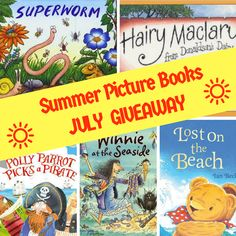 Celebrate the long hot sunny days with 5 Summer Picture Books in my July giveaway. Just answer one simple question and get ready for reading fun. Summer Pictures, Picture Books, Book Reviews, Parenting Hacks, Sunny Days, Giveaways, Children, Kids, Competition