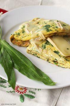 Bärlauch-Omelett mit Brie überbacken | Penne im Topf | Bloglovin'