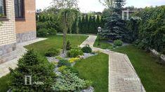 частные сады Подмосковья, фото | Природный Парк Дизайн Privacy Landscaping, Stepping Stones, My Dream, Landscape Design, Sidewalk, Backyard, Outdoor Decor, Gardening, Image