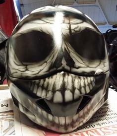 Skull Airbrushed Helmet 2