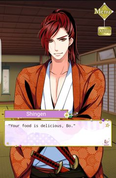 He's just the sweetest.. #SamuraiLoveBalladParty #ShingenEventStory #BlossomsBorneOfSorrow #MyDearOneIHaveFoundYou Until 02/27/17