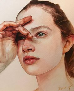 Ideas contemporary art painting portrait drawings for 2019 Watercolor Face, Watercolor Artwork, Watercolor Portraits, Watercolor Trees, Watercolor Portrait Tutorial, Watercolor Landscape, Art Sketches, Art Drawings, Art Aquarelle