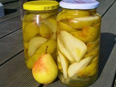 Nejjednodušší zavařené hrušky Kimchi, Preserves, Pickles, Cucumber, Soup, Yummy Food, Canning, Fruit, Health