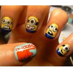 Despicable Me nails <3 omg, so cute!