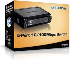 TRENDnet TE100-S5 5-Port 10/100Mbps Ethernet Switch #TRENDnet