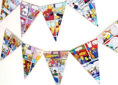 Simpsons Birthday Bunting- Simpsons  Cartoon  Garland- Comic Book Design Birthday Bunting - The Simpsons Decor by DicrellaDesigns on Etsy https://www.etsy.com/listing/265682009/simpsons-birthday-bunting-simpsons
