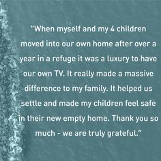 This family's TV is more than just a TV. It helps them feel safe, happy and normal in their new lives after surviving domestic abuse.