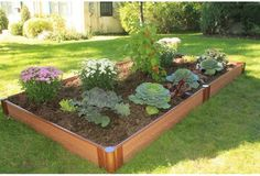 Frame It All 1-inch Series Composite Raised Garden Bed Kit - 4ft. x 8ft. x 5.5in.