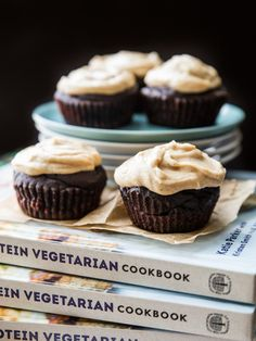 Chocolate Cupcakes with Peanut Butter Vanilla Bean Frosting   Veggie and the Beast