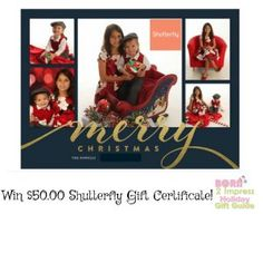 #Win $50.00 to #Shutterfly for all your #HolidayCards and #Stationery! Shutterfly has an amazing selection of high quality #cards #stamps #personalizedornaments and more! #ad