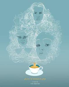 Alice in Wonderland (poster by Amanda Berglund)