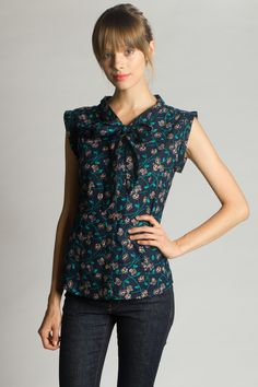 Tied and True Sleeveless Floral Top - Mata Traders – Bead & Reel