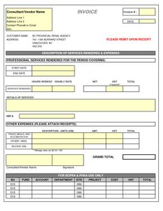 Construction Invoice Template Excel Free It Consulting Invoice Template  Consulting Invoice Template .