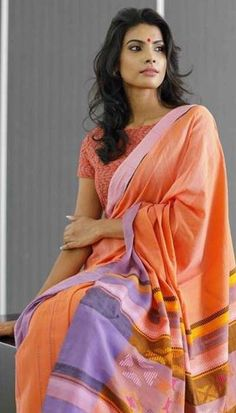 1 new message Buy Designer Sarees Online, Designer Silk Sarees, Latest Designer Sarees, Designer Dresses, Soft Silk Sarees, Cotton Saree, Orange Fabric, Orange Color, Diwali Dresses