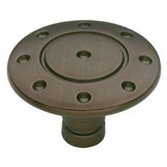 betsyfieldsdesign�1-3/8-in Venetian Bronze Round Cabinet Knob