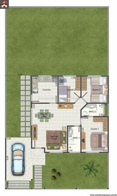 Casa 2 Quartos - 95.29m²