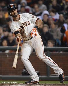Angel; ON THE BASEPATHS…The Giants have 5 players with 10+ stolen bases this season (Angel Pagan-21, Gregor Blanco-19, Melky Cabrera-13, Ryan Theriot-12, Brandon Belt-10)…that's the most players they've had with 10+ steals in a season since 2007 when Dave Roberts (31 steals), Rajai Davis (17), Randy Winn (15), Omar Vizquel (14) and Ray Durham (10) all stole at least 10 bags.