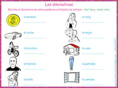 Me encanta escribir en español: los diminutivos