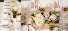 soft color palette floral centerpieces at this Quail Haven Farm wedding in Vista, CA