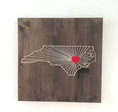 n.c. state with heart string art