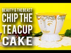 How To Make a CHIP TEACUP CAKE from BEAUTY AND THE BEAST! Chocolate Chip Cake & Chocolate Ganache! - YouTube
