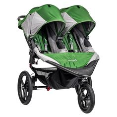 Baby Jogger Summit X3 Double - Green/Gray