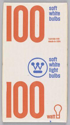 Print, 100 Watt Soft White Light Bulbs, ca. 1968   hbns   Visits   Collection of Cooper Hewitt, Smithsonian Design Museum