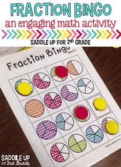 Bingo is a great way to review previously taught skills in your classroom. This fraction bingo game is one of my students favorite activities. Two different ink friendly options are included.