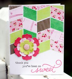 pattern paper card idea from @Crate Paper