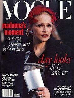 Madonna as Evita for Vogue, October 1996.