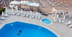 Akrogiali hotel with swimming pool in the famous seaside resort of Malia in Crete Island offers its guests high level services and facilities. Crete Island, Seaside Resort, Beach Hotels, Water Sports, Swimming Pools, Places, Outdoor Decor, Travel, Pools